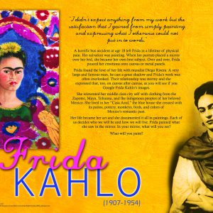 frida kahlo activity packet