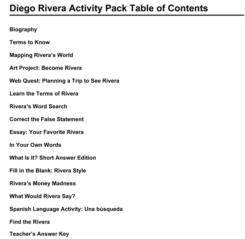 Diego Rivera Web Museum