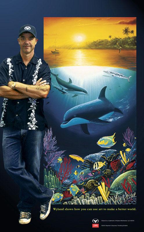 4 x 6.5 feet Undersea Treasures 1996