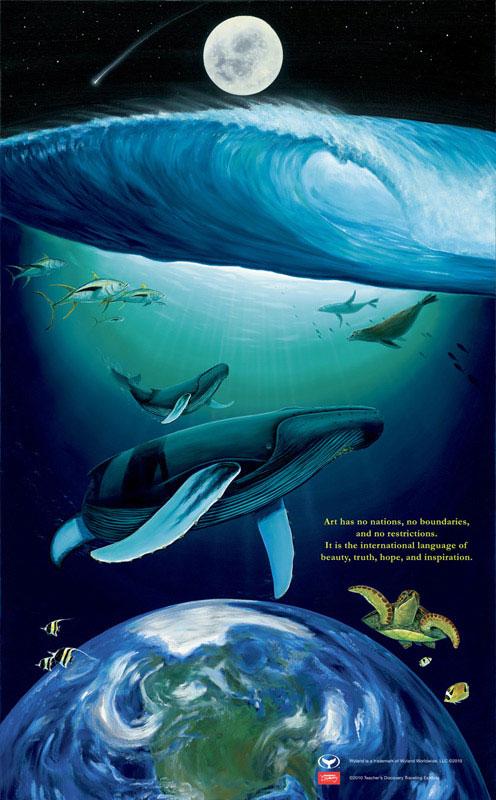 4 x 6.5 feet Water Planet 2007